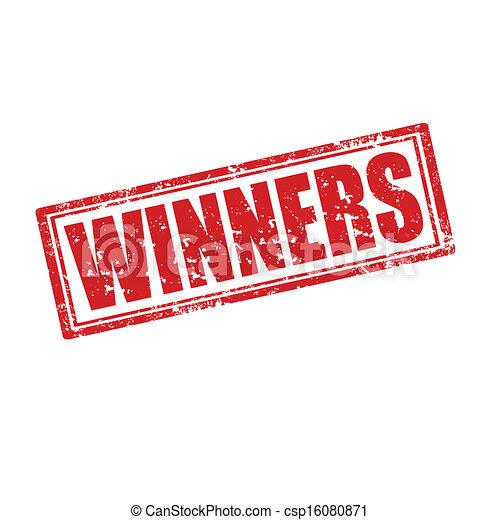 Vectors Illustration Of Winners Stamp Grunge Rubber