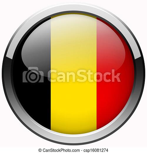 Illustration belgique drapeau gel m tal bouton - Bouton de liege ...
