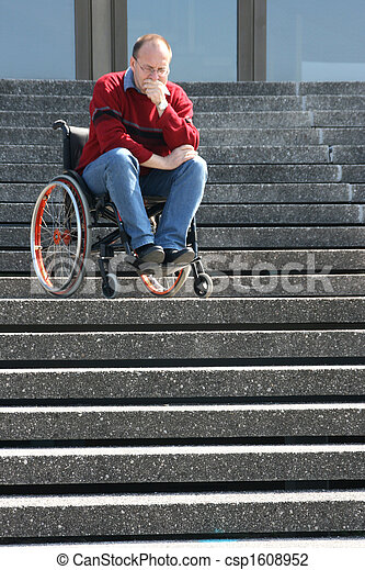 Man in a wheelchair - csp1608952