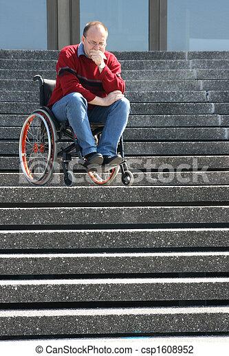 Man in a wheelchair - csp1608952