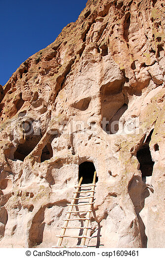Cliff dwellings Bandelier National Monument New Mexico - csp1609461