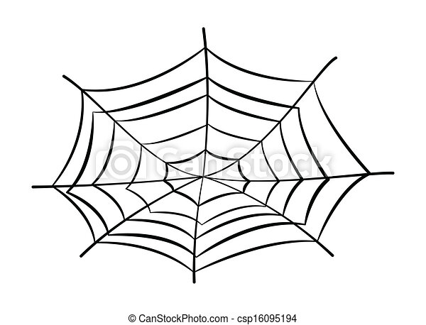Web Spider Vector Drawing Art of Spider's Web