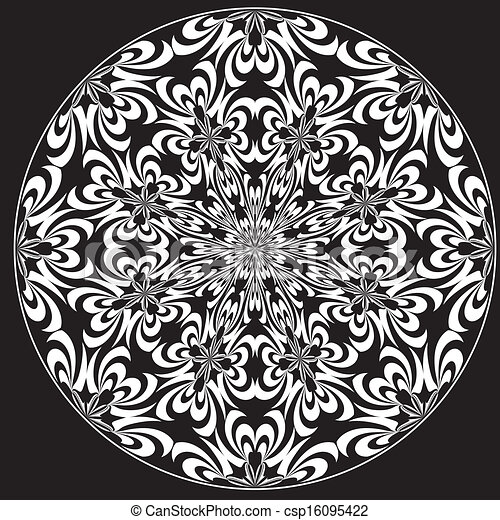 Vector Illustration of Rose Window - Holy Cross symbols derived from ancient motifs ...