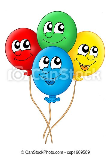 Stock Illustration of Balloons - Color illustration of four balloons ...