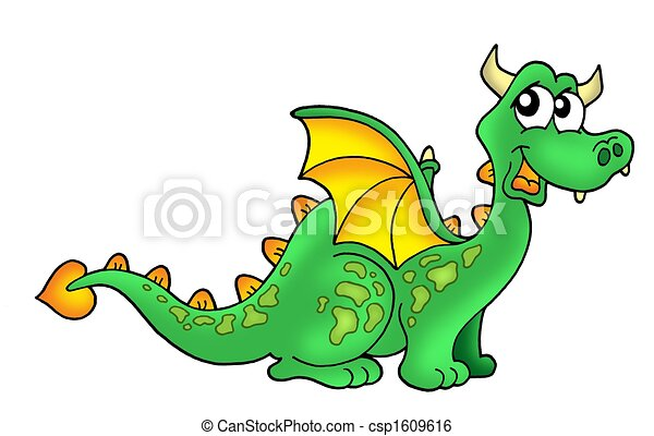 Illustration de mignon dragon color illustration de - Dessin dragon couleur ...