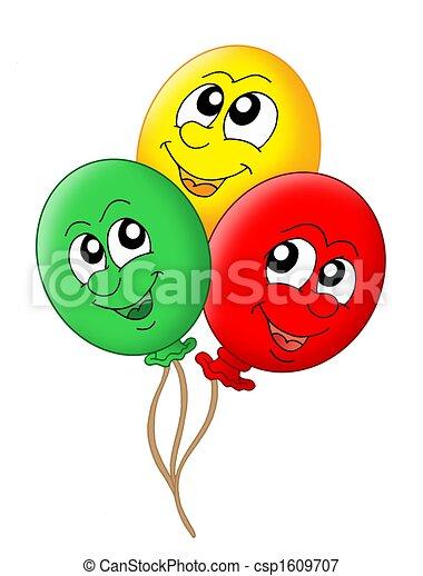 Illustration, de, Trois, Ballons csp1609707 - Recherchez des Clipart ...