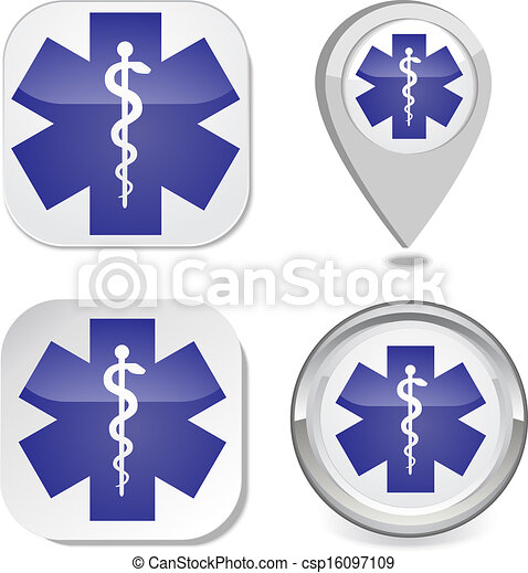 Medical symbol of the Emergency  - csp16097109