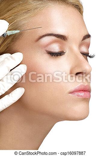 photo beaut femme fin haut injecter botox image images photo libre de droits photos. Black Bedroom Furniture Sets. Home Design Ideas