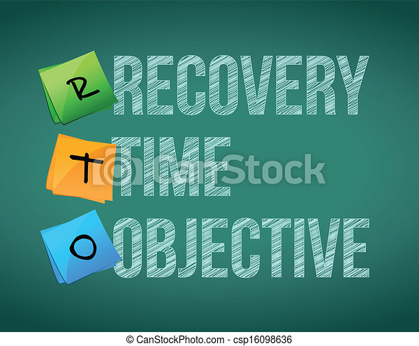 recovery time objective post education - csp16098636