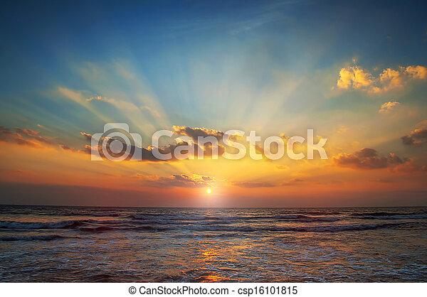 sunrise in the sea - csp16101815
