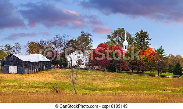 Fall scene - csp16103143