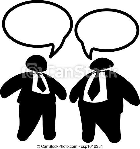 Two Big Fat Business Men or Politicians Talk - csp1610354