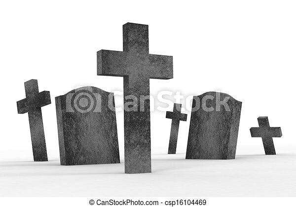 Stock Illustration of gravestones csp16104469 - Search ...