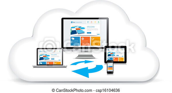 Multimedia Syncing Data Cloud - csp16104636