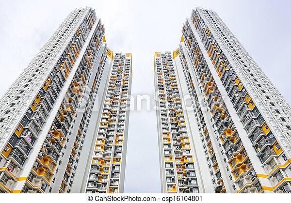 Hong Kong residential buildings - csp16104801