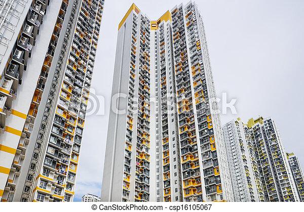 Hong Kong residential buildings - csp16105067