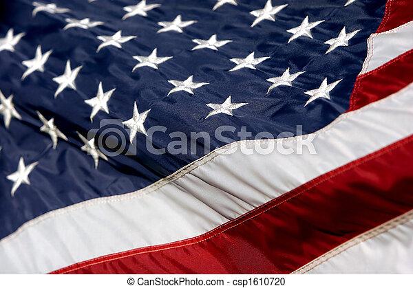 American Flag Waving 2 - csp1610720