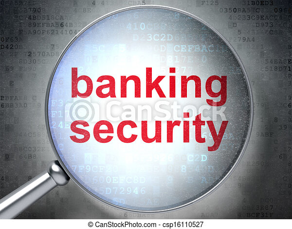 Privacy concept: Banking Security with optical glass - csp16110527