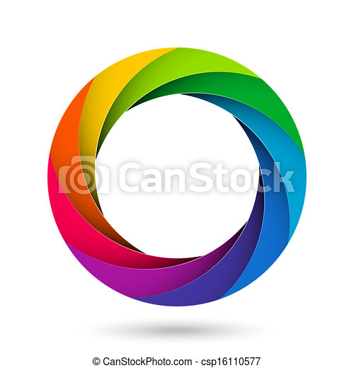 Vectors Illustration of Colorful camera shutter aperture ...