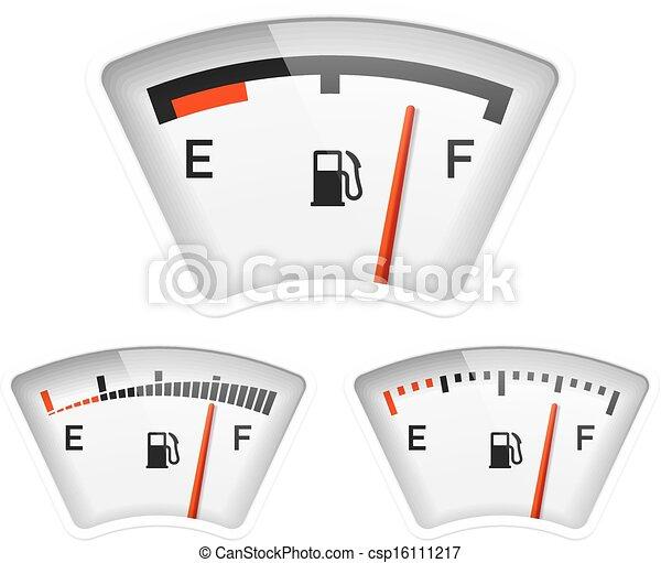 Vector Clip Art of Fuel gauge illustration csp16111217 - Search ...