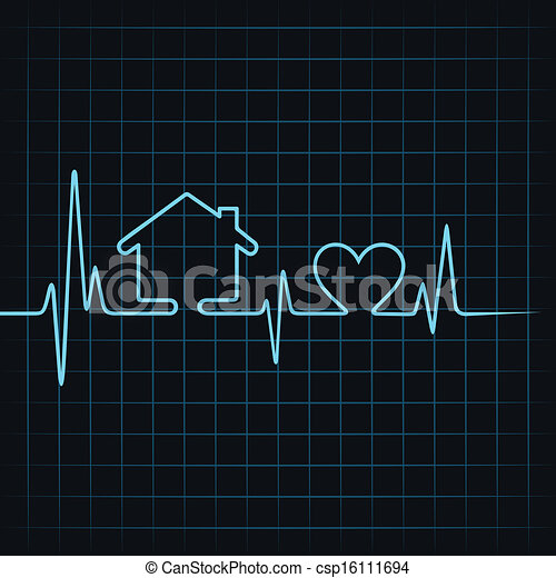 Heartbeat make a home and heart  - csp16111694