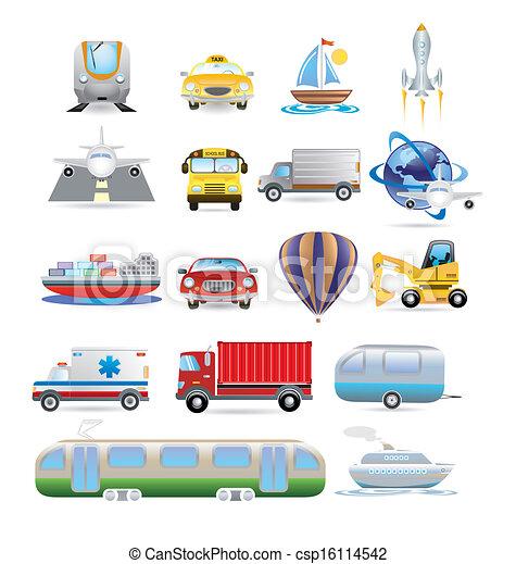 transportation icon set - csp16114542