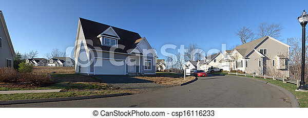 Residential Home Panorama - csp16116233