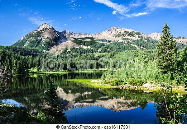 Colorado Lake and Mountains - csp16117301
