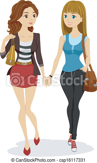 Clip art de chicas adolescentes