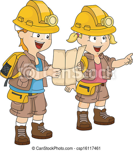 clip art vector of siblings adventure map illustration boy getting dressed clipart child getting dressed clipart