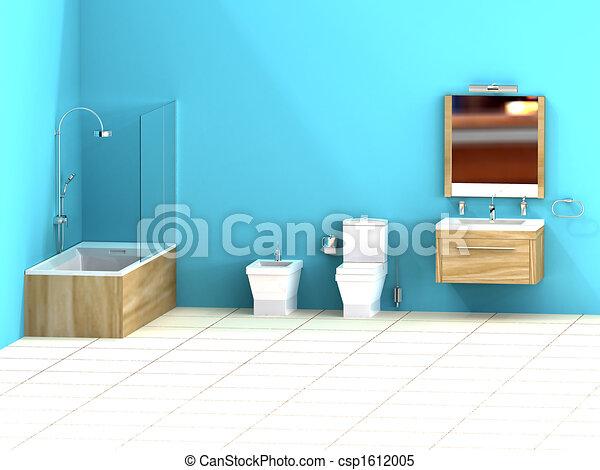 stock illustrationen von t rkis badezimmer modern badezimmer mit t rkis csp1612005. Black Bedroom Furniture Sets. Home Design Ideas