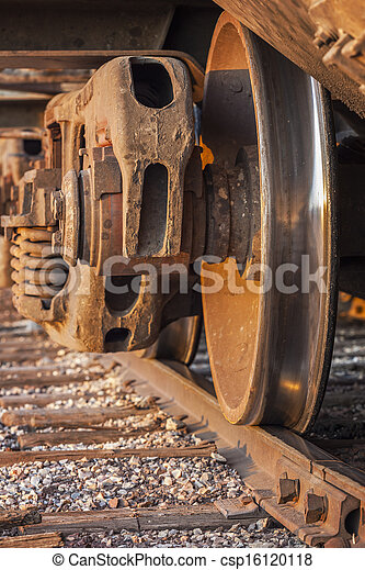 Freight Train and Track - csp16120118