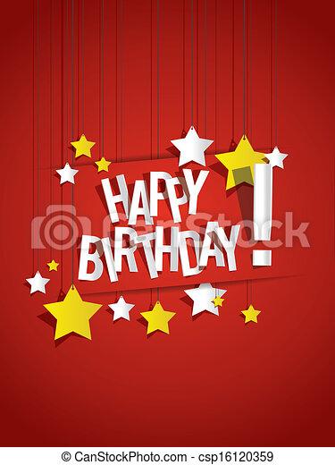 Happy Birthday card - csp16120359