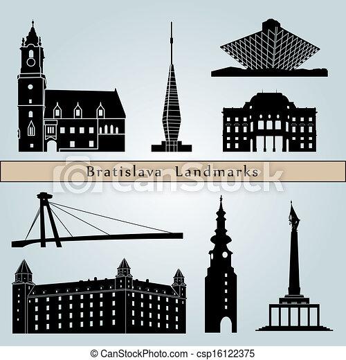 Bratislava landmarks and monuments - csp16122375