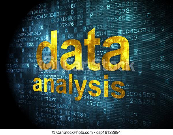 Information concept: Data Analysis on digital background - csp16122994