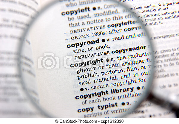 Definition of copyright - csp1612330