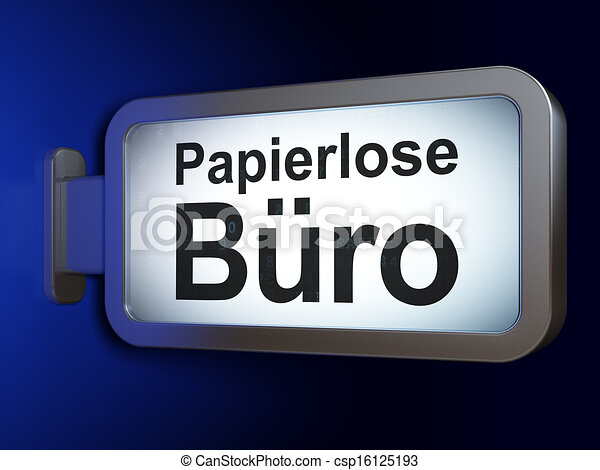 Stock illustration of finance concept papierlose for Buro concept