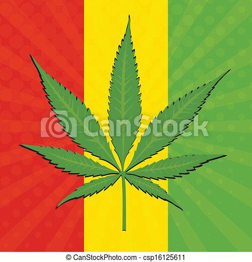 Clip art vecteur de cannabis vecteur feuille vecteur cannabis feuille et csp16125611 - Dessin feuille cannabis ...