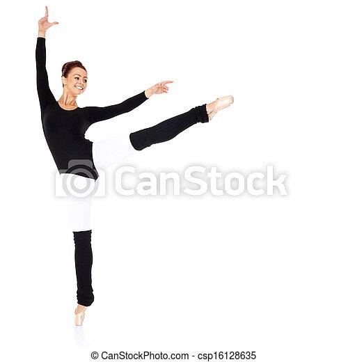 Graceful ballerina training - csp16128635