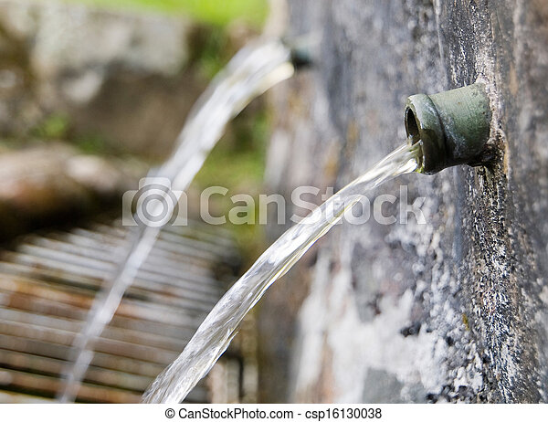 Water fountain detail - csp16130038