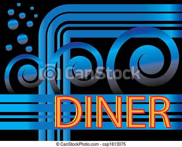 Blue Deco Diner - csp1613075