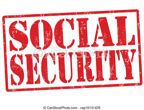 Social security stamp - csp16131435