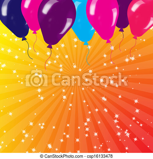 Holiday's background with balloons - csp16133478