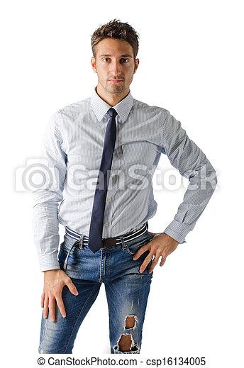 photographies de alternative jeune business homme porter chemise csp16134005. Black Bedroom Furniture Sets. Home Design Ideas