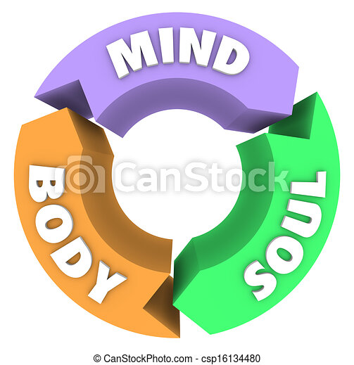 Mind Body Soul Arrows Circle Cycle Wellness Health - csp16134480