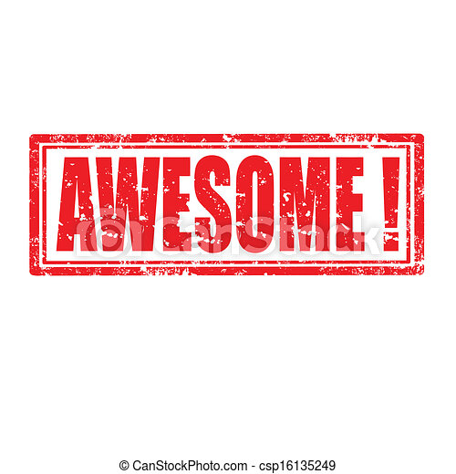 EPS Vector of Awesome-stamp - Grunge - 27.9KB