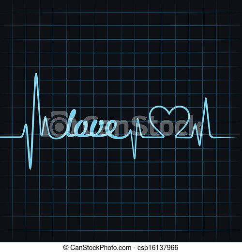 clip art vector of heartbeat make love text and heart Free Vector Heart Beat Free Art Clip Hearts