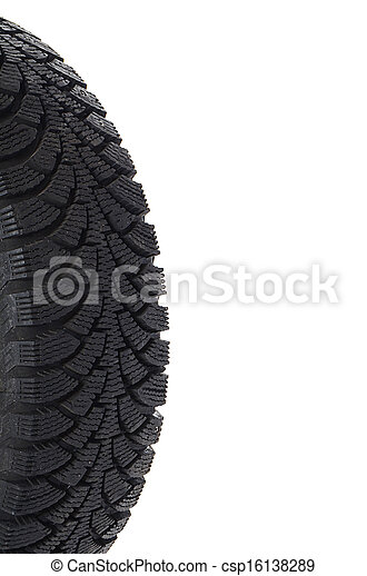 The automobile tire isolated on white - csp16138289