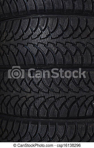 The automobile tire as a background - csp16138296