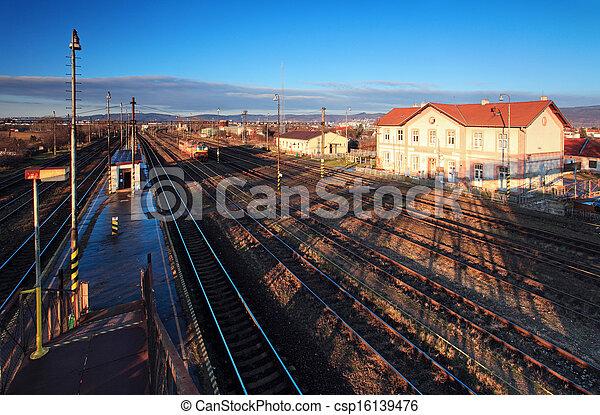 Historic train station - csp16139476
